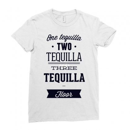 One Teguilla Two Teguilla Three Teguilla Ladies Fitted T-shirt Designed By Estore