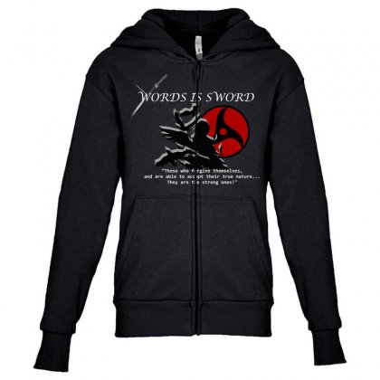 Itachi - Itachi Quotes Youth Zipper Hoodie Designed By Colle-q