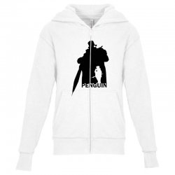 penguin   dc comics Youth Zipper Hoodie | Artistshot
