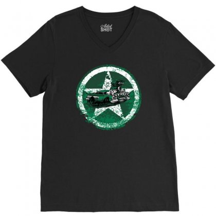 Defensive Driver V-neck Tee Designed By Achreart