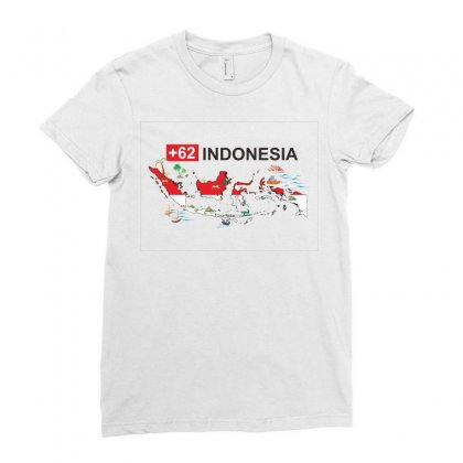 Indonesia +62 Ladies Fitted T-shirt Designed By Colle-q