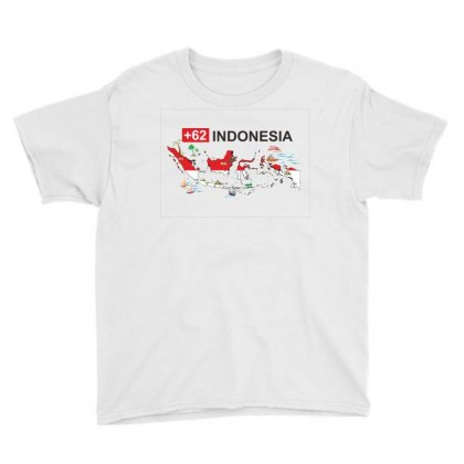 Indonesia +62 Youth Tee Designed By Colle-q