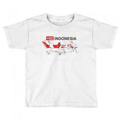 Indonesia +62 Toddler T-shirt Designed By Colle-q