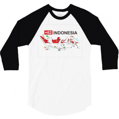 Indonesia +62 3/4 Sleeve Shirt Designed By Colle-q