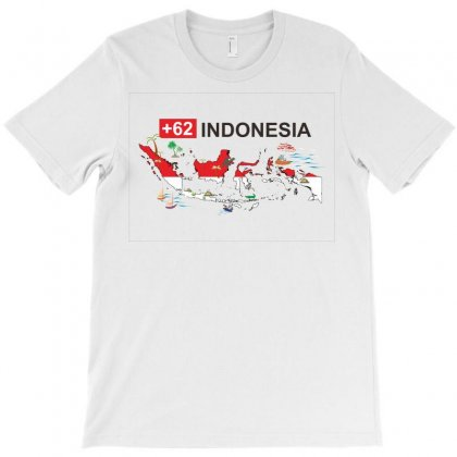 Indonesia +62 T-shirt Designed By Colle-q