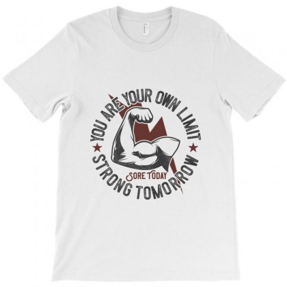 Gym Stronger Than Your Limit T-shirt Designed By Perfect Designers