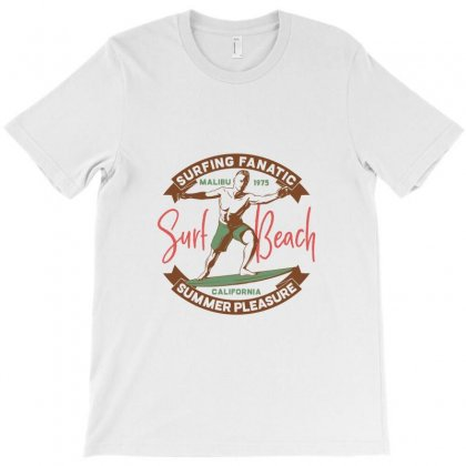 Surfing Fanatic Beach T-shirt Designed By Perfect Designers