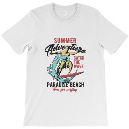 Surfing Summer Adventure T-shirt Designed By Perfect Designers