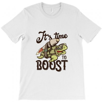 Turtle Time To Boost T-shirt Designed By Perfect Designers