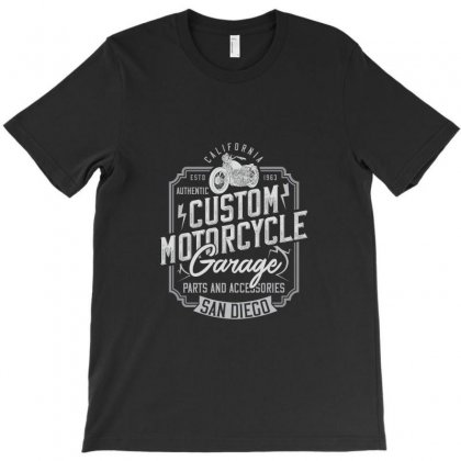 Vintage Whiskey Motorcycle Garage T-shirt Designed By Perfect Designers