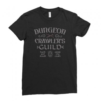Dungeon Crawler's Guild Ladies Fitted T-shirt Designed By Achreart
