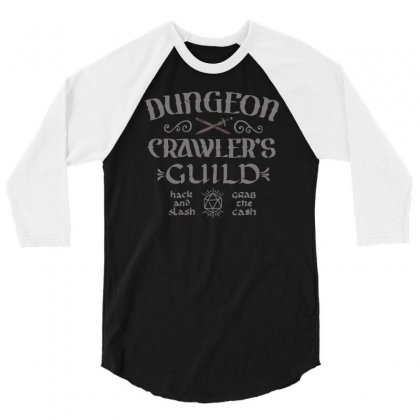 Dungeon Crawler's Guild 3/4 Sleeve Shirt Designed By Achreart
