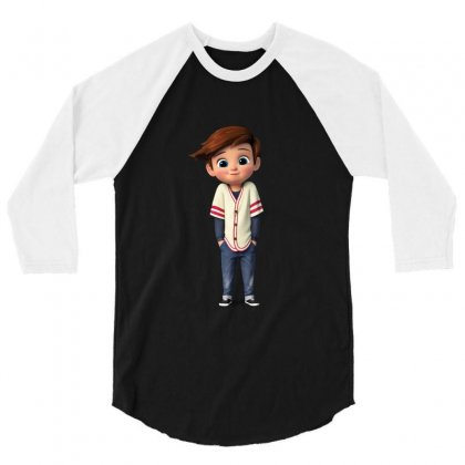 The Boss Baby Brother 3/4 Sleeve Shirt Designed By Sreerag