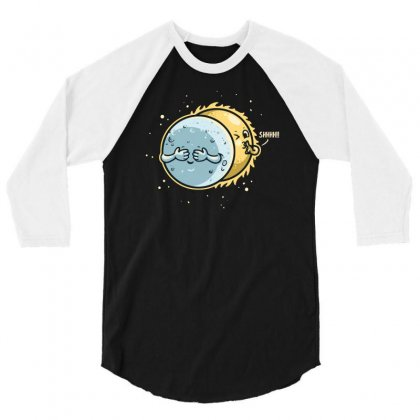 Eclipse Hide And Seek 3/4 Sleeve Shirt Designed By Achreart