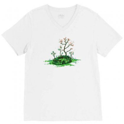 Eco Friendly V-neck Tee Designed By Achreart