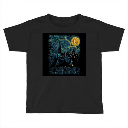 Castle Starry Night Van Gogh Parody Toddler T-shirt Designed By Salmanaz