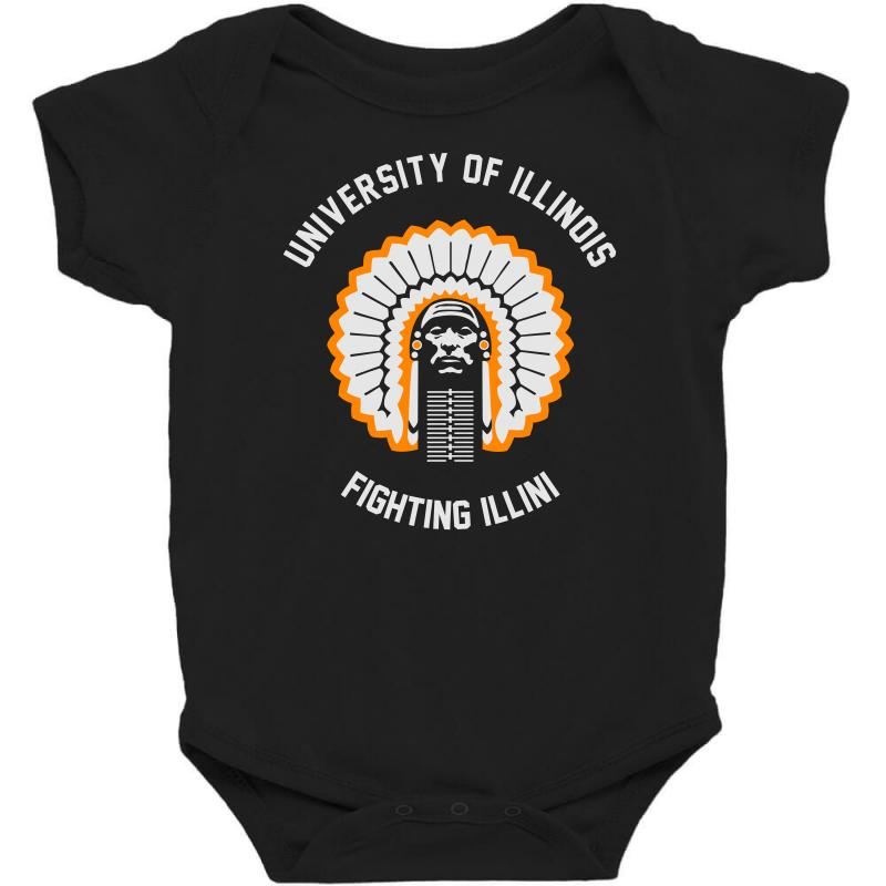 University Of Illinois Baby Bodysuit | Artistshot