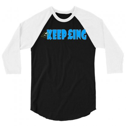 Keep Pounding Panthers 3/4 Sleeve Shirt Designed By Coolstars