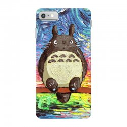 totoro starry night art van gogh parody iPhone 7 Case | Artistshot