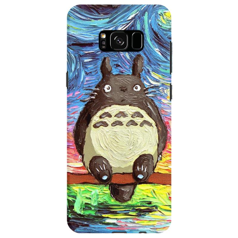 Totoro Starry Night Art Van Gogh Parody Samsung Galaxy S8 Case | Artistshot