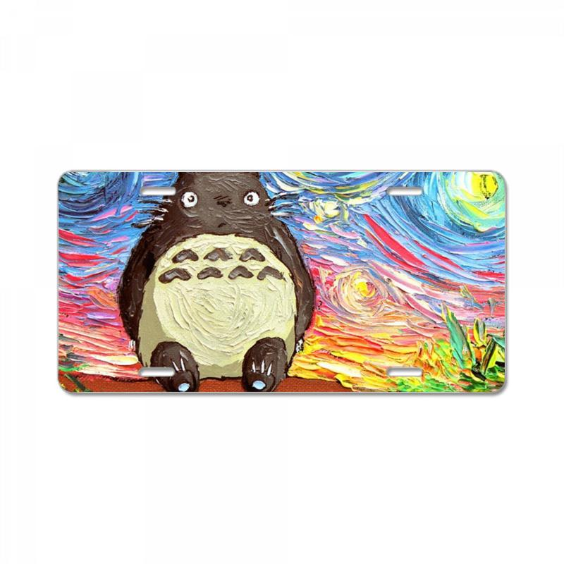 Totoro Starry Night Art Van Gogh Parody License Plate | Artistshot