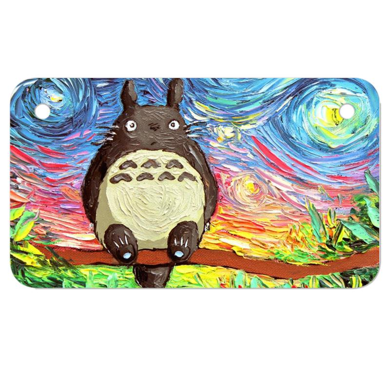 Totoro Starry Night Art Van Gogh Parody Motorcycle License Plate | Artistshot
