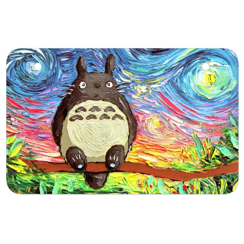 Totoro Starry Night Art Van Gogh Parody Atv License Plate | Artistshot