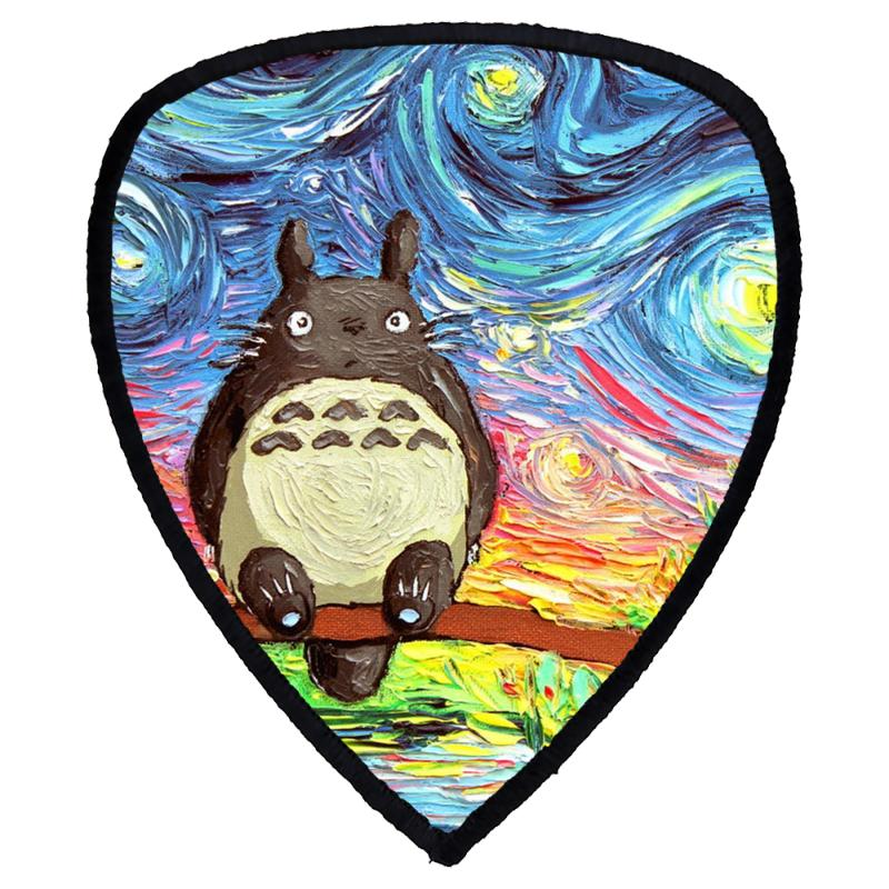 Totoro Starry Night Art Van Gogh Parody Shield S Patch | Artistshot