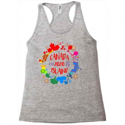 Canada Day 2020 On The Island Racerback Tank Designed By Coolstars