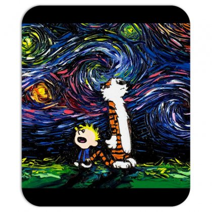 Calvin And Hobbes Art Starry Night Van Gogh Mousepad Designed By Salmanaz