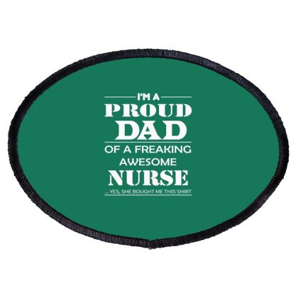 Father's Day- Dad Shirts - Awesome Nurse Oval Patch Designed By Davidph