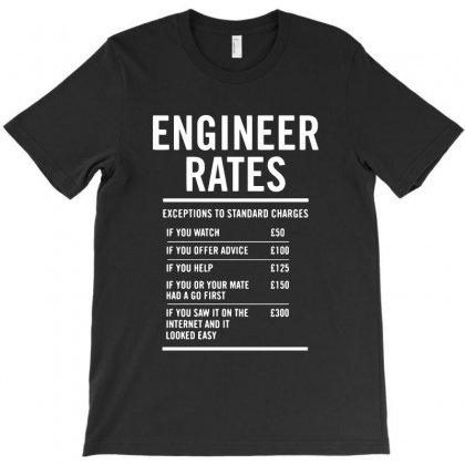 Engineer Labour Rates T-shirt Designed By Ainazee Tees