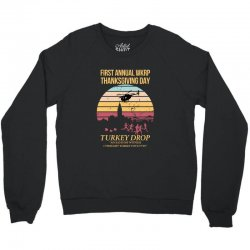 first annual wkrp thanksgiving day Crewneck Sweatshirt | Artistshot