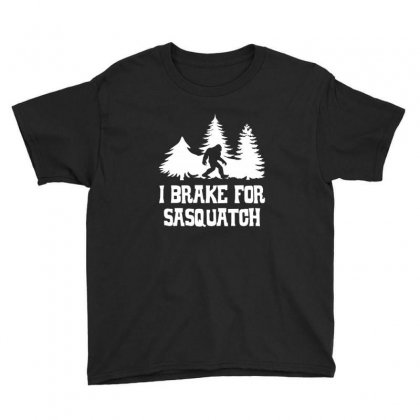 I Brake For Sasquatch Youth Tee Designed By Sr88