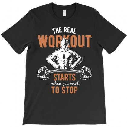 The Real Workout T-shirt Designed By Akhtar21