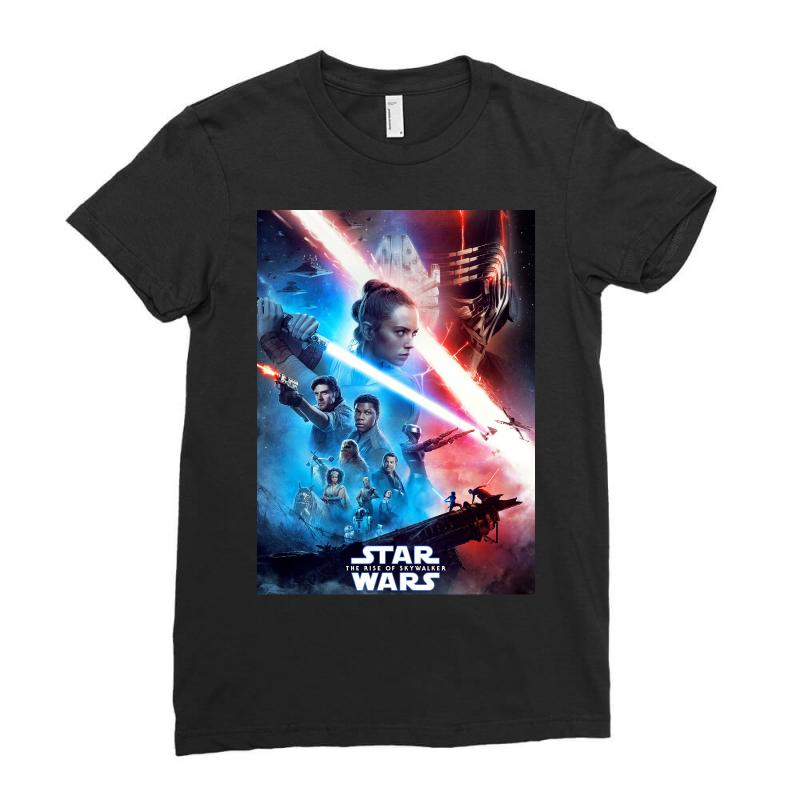 Poster Star Wars The Rise Of Skywalkers Ladies Fitted T-shirt   Artistshot