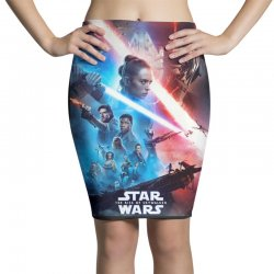 poster star wars the rise of skywalkers Pencil Skirts   Artistshot