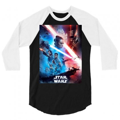 Poster Star Wars The Rise Of Skywalkers 3/4 Sleeve Shirt Designed By Nugrahadamanik