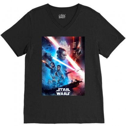 Poster Star Wars The Rise Of Skywalkers V-neck Tee Designed By Nugrahadamanik