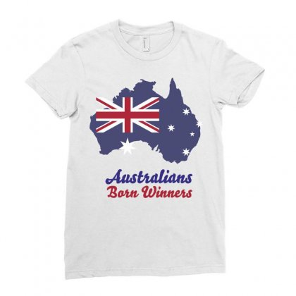 Australians Born Winners Ladies Fitted T-shirt Designed By Estore