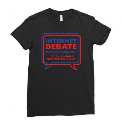 Internet Debate World Champion Ladies Fitted T-shirt Designed By Banyuart