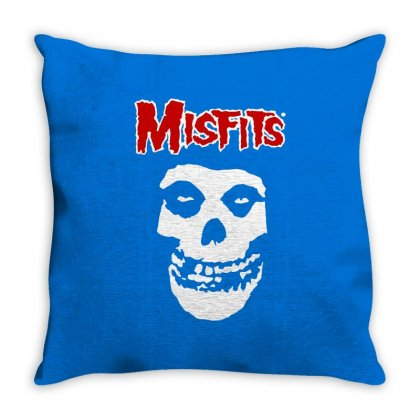 Misfits Throw Pillow Designed By Artwoman