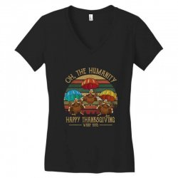 oh the humsnity happy thanksgiving wkrp 1978 Women's V-Neck T-Shirt | Artistshot