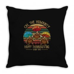 oh the humsnity happy thanksgiving wkrp 1978 Throw Pillow | Artistshot