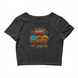 oh the humsnity happy thanksgiving wkrp 1978 Crop Top | Artistshot