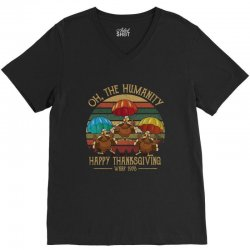 oh the humsnity happy thanksgiving wkrp 1978 V-Neck Tee | Artistshot