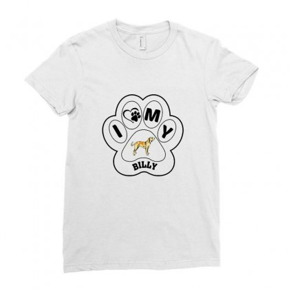 Billy And Shiba Ladies Fitted T-shirt Designed By Oktaviany