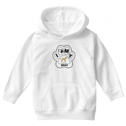 Billy And Shiba Youth Hoodie Designed By Oktaviany