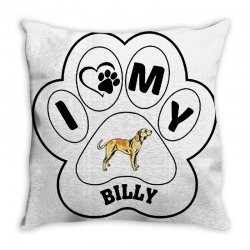 billy and shiba Throw Pillow | Artistshot