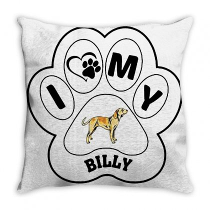 Billy And Shiba Throw Pillow Designed By Oktaviany